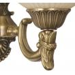 Wandleuchte, Antike Messingfarbe / Metall Glas 2*60W E27, 317020202
