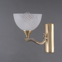 Wandleuchte, Brass/Metal+Aluminum White/Glass 1*40W E27, 317024601