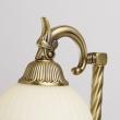 Tischleuchte, Antike Messingfarbe / Metall Glas 1*60W E27, 317031001
