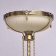 Stehleuchte, Antike Messingfarbe / Metall Glas 1*60W E27, 317040901