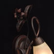 Wandleuchte, Antike Braune Farbe/Metall Glas 1*40W E14, 323023801