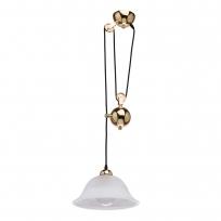 Hängeleuchte, Gold Color / Metal Glass 1*60W E27 Ip20, 327010501