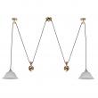 Hängeleuchte, Gold Color / Metal Glass 2*60W E27, 327010702