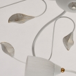 Deckenleuchte, White +Leaf Sweep Gold/Metal Pickling With White Lines/Glass 8*60W E14, 334013108