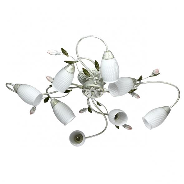 Deckenleuchte, White+Gold/Metal/Metal White/Glass 8*60W E14, 334013908