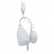 Wandleuchte, White +Leaf Sweep Gold/Metal Pickling With White Lines/Glass 1*60W E14, 334023301