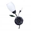 Wandleuchte, Black+Silver/Metal White/Glass 1*60W E14, 334023701