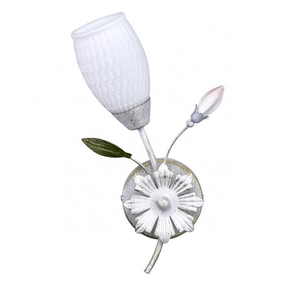 Wandleuchte, White+Gold/Metal White/Glass 1*60W E14, 334024001