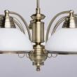 Deckenleuchte, Antike Messingfarbe / Metall Glas 5*60W E27, 347010605