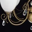 Deckenleuchte, Messingfarbe / Metall / Kristall/Glas 5*60W E27, 347016405