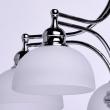 Hängeleuchte, Chromfarben/Metall Glas 5*60W E27, 347017405