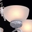 Deckenleuchte, Matt Weiss+Goldfarbe / Metall Glas/Polyresin 5*60W E27, 347018605