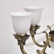 Hängeleuchte, Antique Brass Color / Metal+Aluminium Alloy White Matt/Glass 9*40W E27 2700–Ö, 347019609