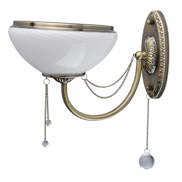Wandleuchte, Antique Brass Color / Metal Crystal/Glass 1*60W E27, 347028801