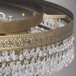 Deckenleuchte, Antike Messingfarbe/Messing Kristall 13*60W E14, 351012013