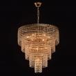 Hängeleuchte, French Gold/Metal Transparent/Crystal 2*60W E14 2700K 220V, 351018510