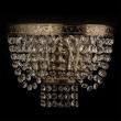 Wandleuchte, Antike Messingfarbe / Metall Kristall 2*60W E14, 351026102