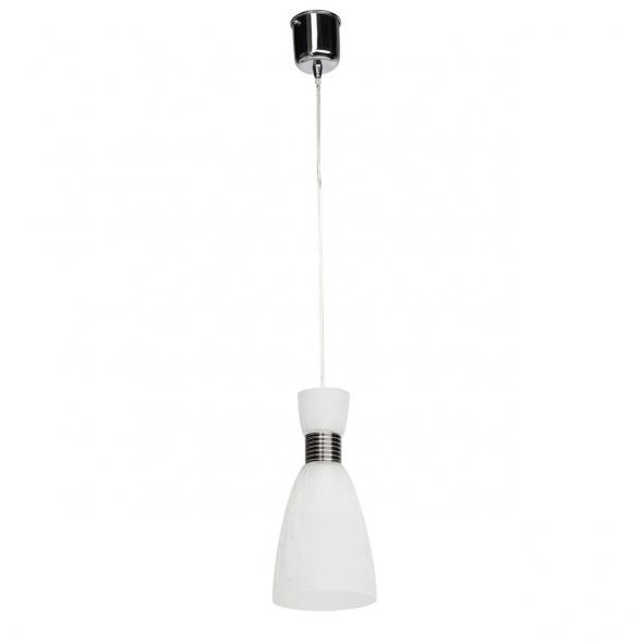 Hängeleuchte, Chromfarben / Metall Glas 1*60W E14, 354016301