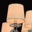 Hängeleuchte, Chrome/Metal Transpant/Crystal Beige/Fabric 8*40W E14 2700K , 355013208