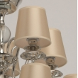 Hängeleuchte, Champagne/Fabric Nickel/Metal Transparent/Crystal 15*40W E14 2700K, 355014015