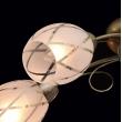 Deckenleuchte, Matte Goldfarbe / Metall Glas 5*60W E14, 358011505