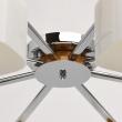 Deckenleuchte, Chrome+,Wood/Metal White/Glass 8*40W E27, 364014508