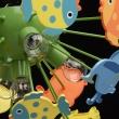 Deckenleuchte, Mehrfarbig / Metall Kunststoff 5*40W E14, 365014605