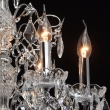 Kronleuchte, Chrom Farbe / Metal Kristall/Glas 6*60W E14, 367013306
