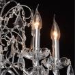 Kronleuchte, Chromfarben / Metall Kristall/Glas 8*60W E14, 367013408