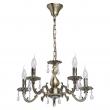 Kronleuchte, Antique Brass Color / Metal Crystal 5*60W E14, 371011905