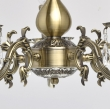 Kronleuchte, Antique Brass Color / Metal Crystal 5*60W E14, 371011905