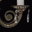 Hängeleuchte, Antique Brass Color / Metal Crystal/Glass 5*60W E14, 371012405