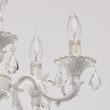 Hängeleuchte, Matt White+Gold Color / Metal Crystal 5*60W E14, 371012605