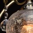 Deckenleuchte, Antike Messingfarbe/Metall Kristall/Glas 8*60W E27, 372011808