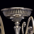 Deckenleuchte, Antike Messingfarbe / Metall Glas 6*60W E14, 372011906