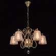 Hängeleuchte, Antique Brass Color / Metal Transparent /Glass Transparent/Crystal 5*40W E14 2700–Ö, 372013205