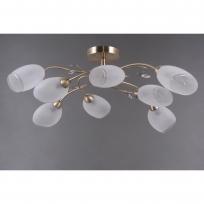 Deckenleuchte, Antique Brass/Metal White/Glass 8*40W E14 , 372014108