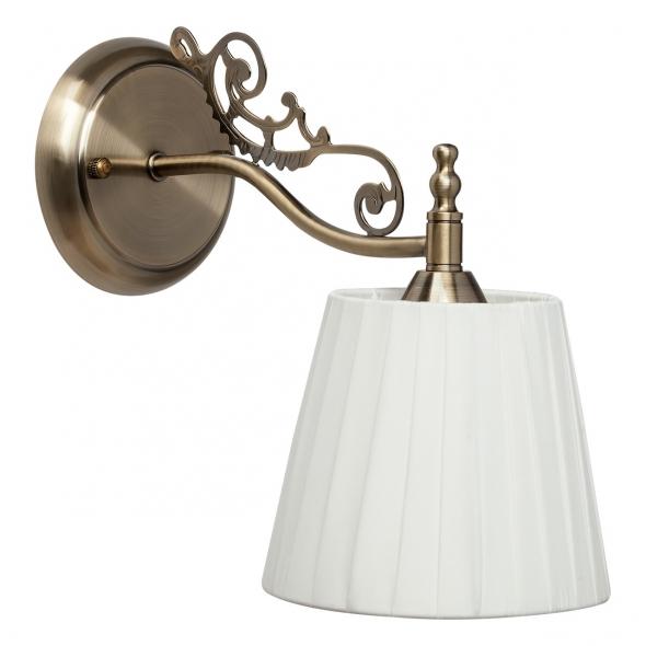 Wandleuchte, Antike Messingfarbe/Metall Lampenschirm 1*60W E14, 372021301