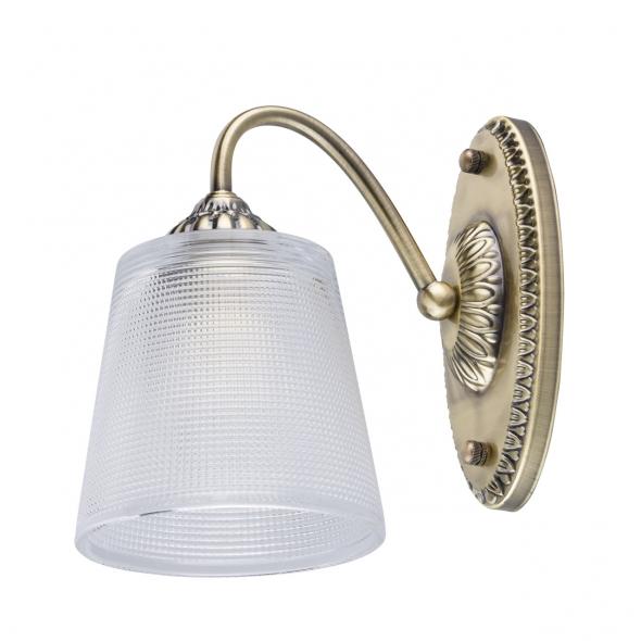 Wandleuchte, Antique Brass Colour/Metal Transparent Glass 1*40W –Ē14 2700–Ö, 372023101