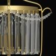 Hängeleuchte, Gold/Metal Transparent/Crystal 3*40W E14, 373014403