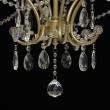 Hängeleuchte, Matt Gold/Metal Transparent/Crystal 6*40W E14, 373014606