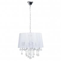 Kronleuchte, Chromfarben/Metall Kristall Lampenschirm (Seidenfaden) 5*60W E14, 379017805