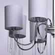 Deckenleuchte, Chromfarben / Metall Lampenschirm / Kristall 8*40W E14, 379018608