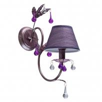 Wandleuchte, Antike Silberfarbe / Metall Glas /Lampenschirm 1*40W E14, 379023701