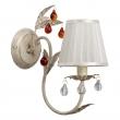 Wandleuchte, Elfenbein Und Goldfarbe / Metall Glas Lampenschirm 1*60W E14, 379027701