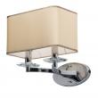 Wandleuchte, Chrome/Metal Beige/Fabric Transparent/Crystal 2*40W E14 2700K, 386026202