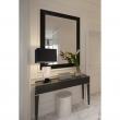 Tischleuchte, Chrome/Metal Black/Fabric Transparent+Black/Crystal 1*40W E27, 386036101