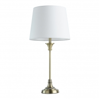Tischleuchte, Satin Gold/Metal White/Fabric 1*40W E27, 415032901