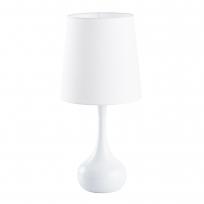 Tischleuchte, White/Metal Beige/Fabric 1*60W E27 , 415033701