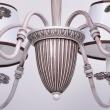 Deckenleuchte, Matt Weiss+Kaffefarbe / Metall Lampenschirm 6*40W E14, 419011006
